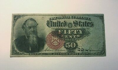 """FR-1376  Fourth Issue Fractional Currency 50c Fifty Cents """"Stanton"""""""