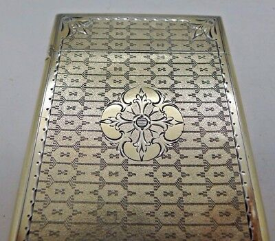 Gorham 1880 Aesthetic Sterling Silver Business Card Case Box Finest Around
