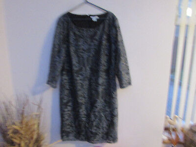 Dress charcoal lace and lined H&M size large