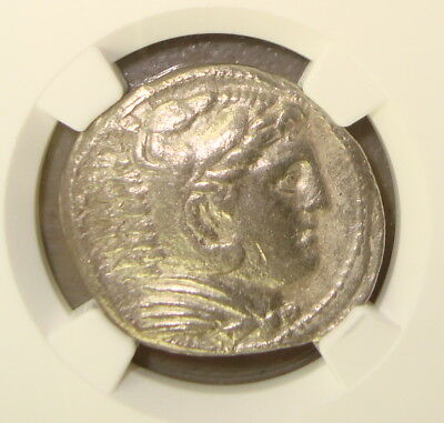 336-323 BC Alexander III, the Great Ancient Greek Silver Tetradrachm NGC Ch VF