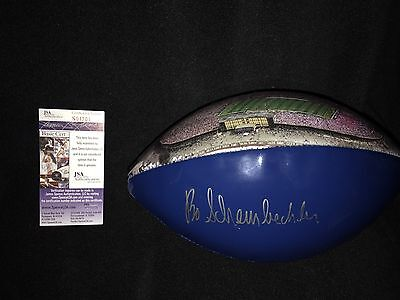 Bo Schembechler Signed Michigan Wolverines Big House Stadium Football Jsa Coa