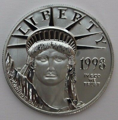 1998 American Platinum Eagle 1 oz $100 Early Release .9995 1 full ounce Liberty