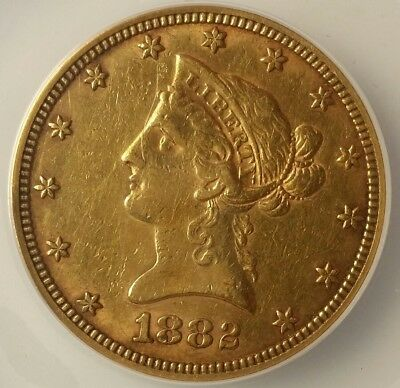 1882 $10 Liberty Head Gold Eagle ANACS EF45