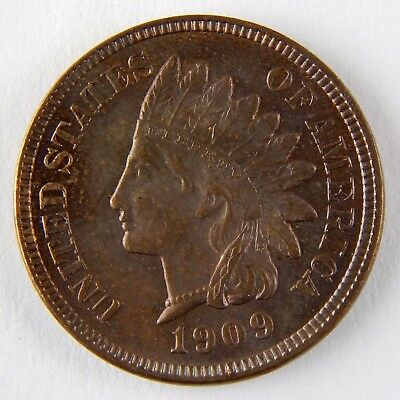 1909 1c Indian Head Small Cent Penny Uncirculated Coin A2970