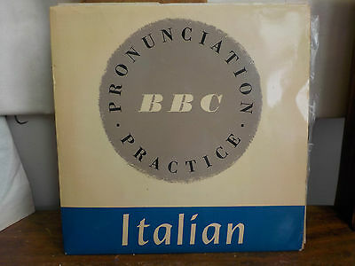 "Bbc Italian Pronunciation Practice 7"" Single Vintage Kitsch Spoken Word"