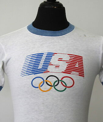 vintage 1984 USA OLYMPICS soft thin T SHIRT small 80s LEVI'S