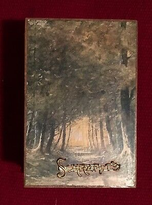 Vintage Schrafft's Chocolates Candy Box Boston Very Early Metal Name Plate *wow*