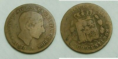(R2) 5 Centimos 1878 Alfonso Xii