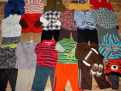 Used Baby Boy 18 24 Months Fall Winter Tops Pants Clothes Lot