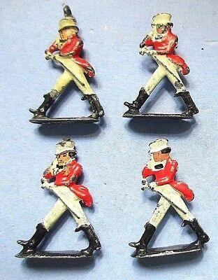 """**4**collectible Advertising Figures=Johnny Walker Red=Metal= 1 1/8"""" Tall"""