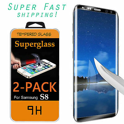 For Samsung Galaxy S8/PLUS Screen Protector Tempered Glass 3D Curve Glass Shield