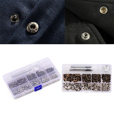 Snap Buttons+Tool Metal Press Studs Sewing Button Snap Fasteners Leather Craft