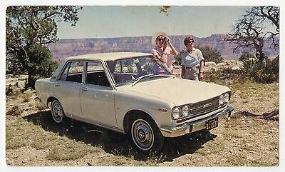 1970 Datsun Bluebird 210 Sedan Grand Canyon Vtg Advertising Postcard P166