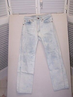 Vintage 1980's Levi's 505 USA Made Acid Wash jeans 29x29 AS IS