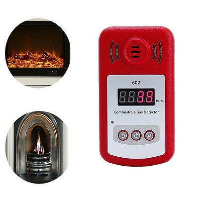 Combustible Natural Gas Methane Leak Detector w/ Sound Alarm Light Flash Tester