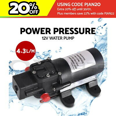 Portable 12V Water Pressure Shower Pump Caravan Camping Boat Car Garden 4.3LPM