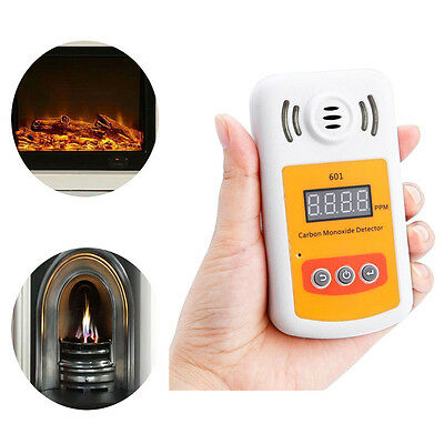 LCD Display CO Gas Carbon Monoxide Detector + Light Flash Sound Alarm Household