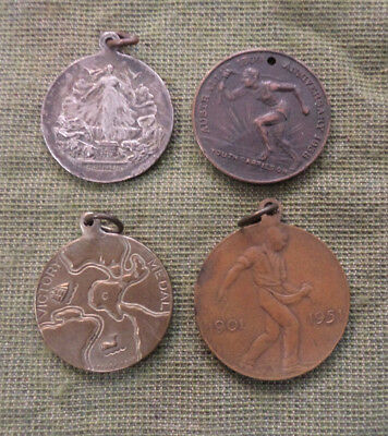 #D319.  FOUR AUSTRALIAN CELEBRATION  SCHOOL MEDALs - 1919, 1938, 1945, 1951