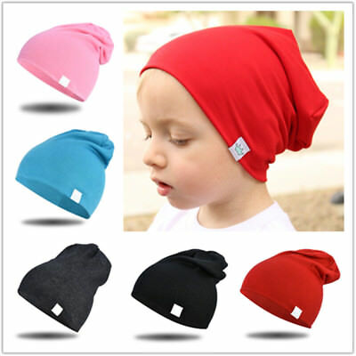 1PCS Baby Winter Hat Solid Color Cotton Cap for children Baby Girls Boys beanies