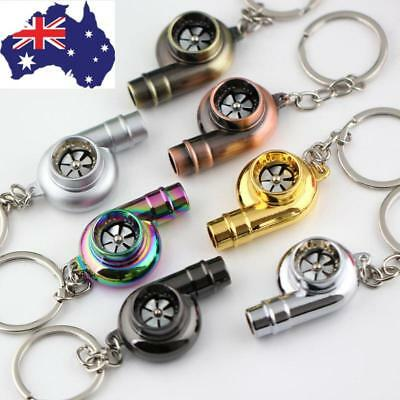 Car Auto Turbo Keychain Sleeve Spinning Turbine Turbocharger Key Chains Keyfob