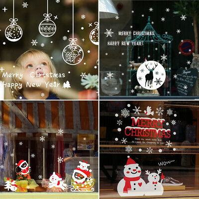 Christmas Happy New Year Wall Stickers Vinyl Decal Window DIY Decor Removable