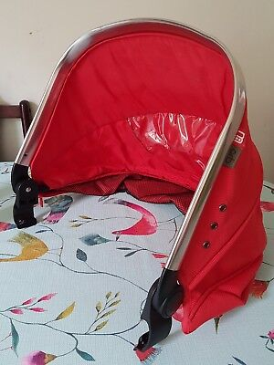 Mothercare Spin Orb Pram Pushchair Red Hood Canopy