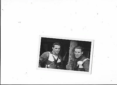 Postcard 2 x Exeter Falcon Speedway Riders 40s/50s