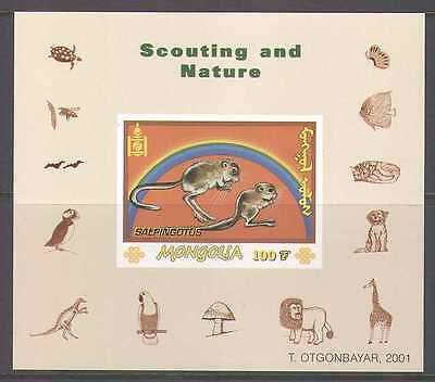 Mongolia 2001 Jerboa/Rodent/Scout m/s b5837a