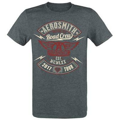 Aerosmith - Road Crew Militant Mens Short Sleeve Cotton T-Shirt - New & Official