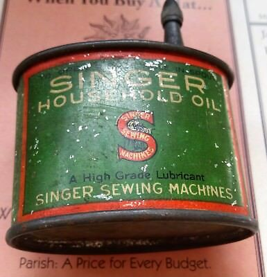 Vintage Antique Singer sewing Machine little oil can for sewing machines