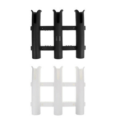 2 Pieces Boat Fishing 3 Rod Pole Holder Tube Mount Rack Pliers Lure Storage