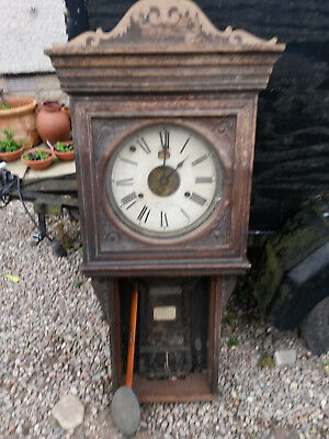 Antique Master Time Recorder Clock - International Time Recording Co -London