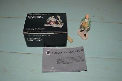 Sebastian Miniature Figure Ben Franklin w/ Box