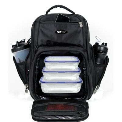 PRO ELITE Bag Backpack - Meal Prep & Laptop Insulated Lunch Box Cooler Fitness