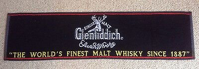 GLENFIDDICH BAR TOWEL MALT WHISKEY COLLECTABLE NEW LARGE 36 X 9 inch FREE POST