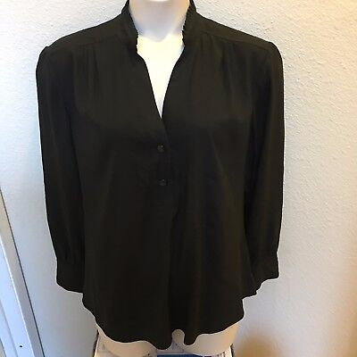 NEW - Chico's - black long sleeve pullover stretch blouse - size 3