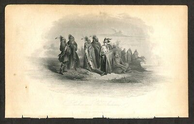 1847 Antique Print - Engraving  Saukie And Fox Indians after Karl Bodmer