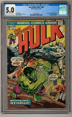 Incredible Hulk #180 CGC 5.0 (C-OW) 1st Wolverine in Cameo On Last Page