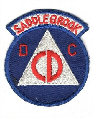 "Civil Defense Patch on twill 4/"" Watertown"