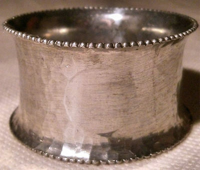 Mottled Silver Plated Napkin Ring