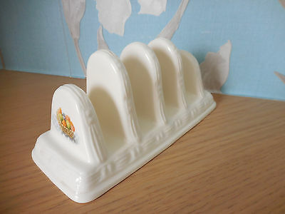 "Aynsley - Fine Bone China Ekg Basketweave - Toast Rack - Excellent Con. 7""  Long"