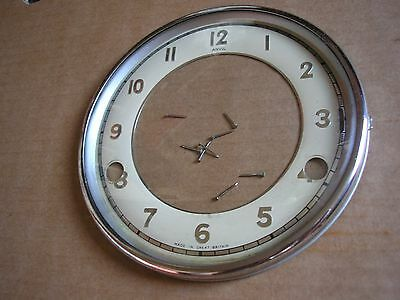 Antique Chrome  Clock Bezel and Glass with Chapter Ring + Pins.