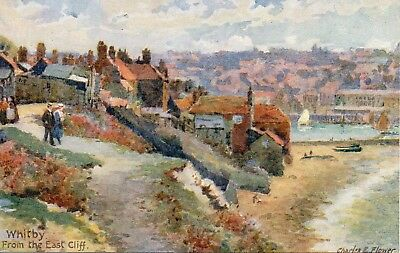 Tuck Artist Postcard.from The East Cliff.whitby.yorkshire.charles.e.flower.