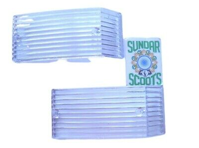 Pair Of Clear Front Indicator Lens - Suitable For The Vespa Px Select 2 .