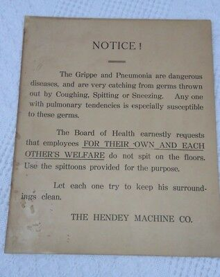 "Vintage Working Signage "" The Hendey Machine Co"""