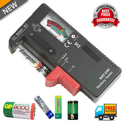 AA AAA C/D 9V 1.5V Universal Button Cell Battery Volt Tester Checker Indicator