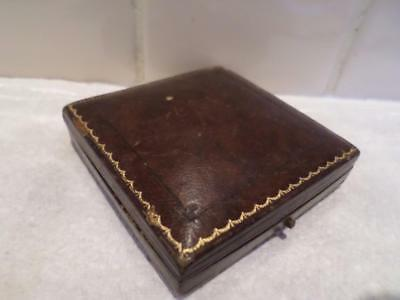 Leather Vintage Jewellery Box. Antique Jewelry Case. Old Dodds Jewellers Box