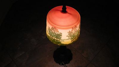 ANTIQUE reverse painted lamp No. BG-62,403