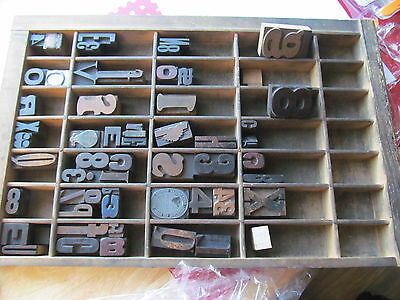 Printer's Tray and Type