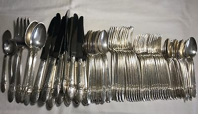 """72 Pc. SET of Silverplate Flatware - 1847 Rogers Bros. """"First Love"""" Pattern"""